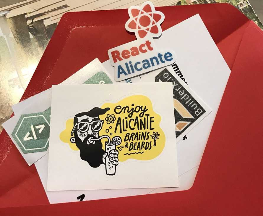 Custom React Alicante stickers