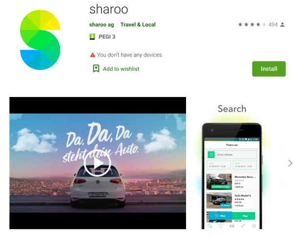 Sharoo ranking - android